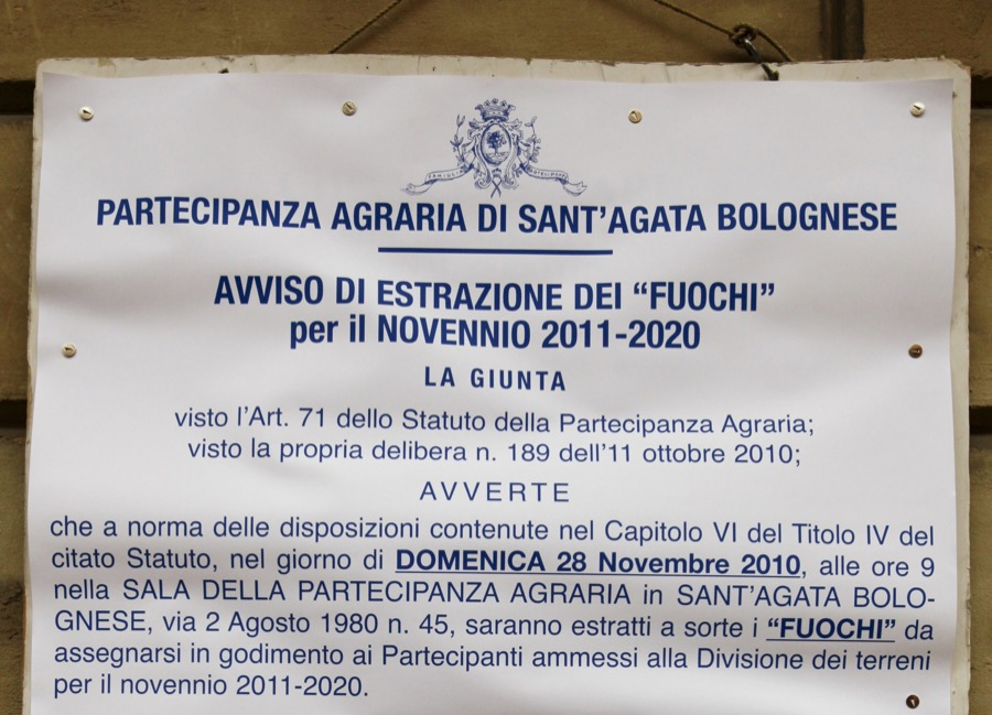 Inaugurazione della ristritturazione sala delle Colonne Partecipanza Agraria di S.Agata Bolognese 14-11-2010