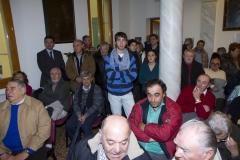 """foto """"cavazione parti"""" divisione novennale 2011 - 2020 Partecipanza Agraria di S.Agata Bolognese nella sala delle colonne appena ristrutturata fotografie di Umberto Guizzardi"""